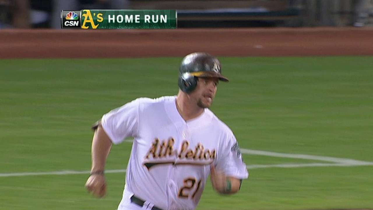 Vogt's value to A's goes beyond catching