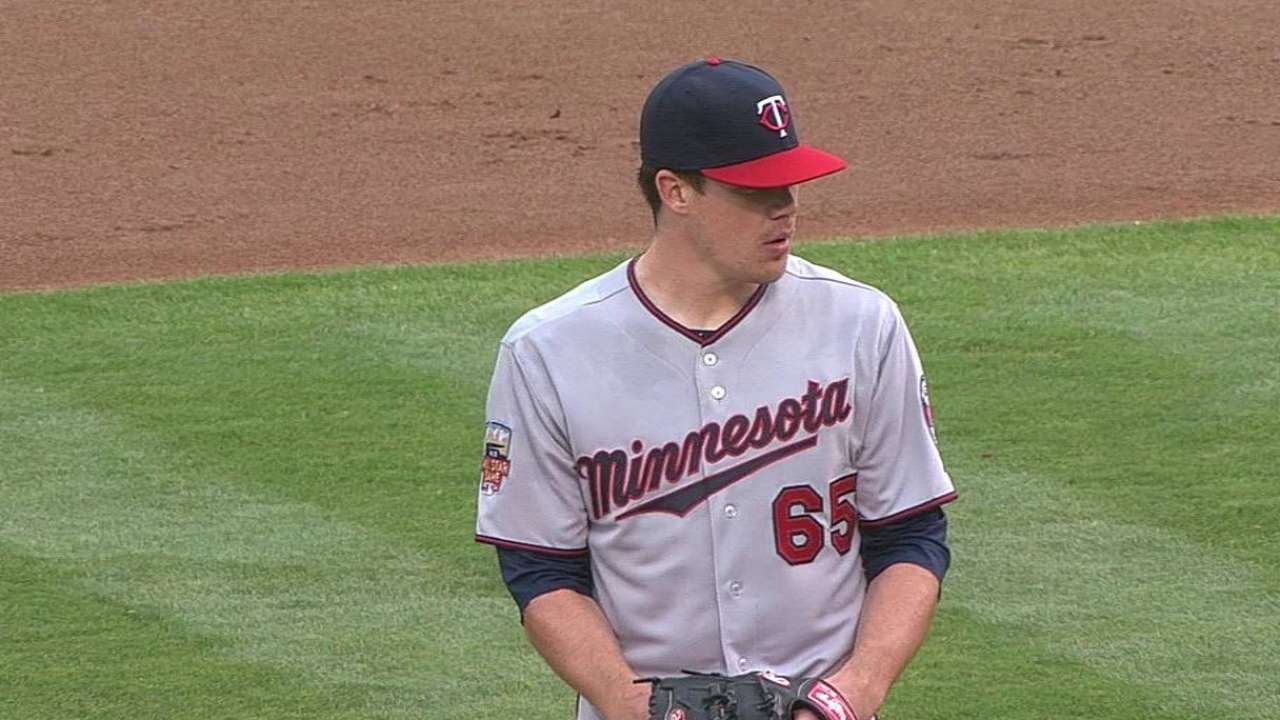 May lasts just two innings in Major League debut