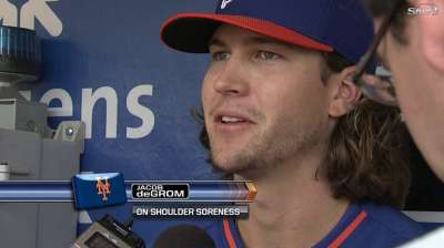 deGrom encouraged by shoulder's progress