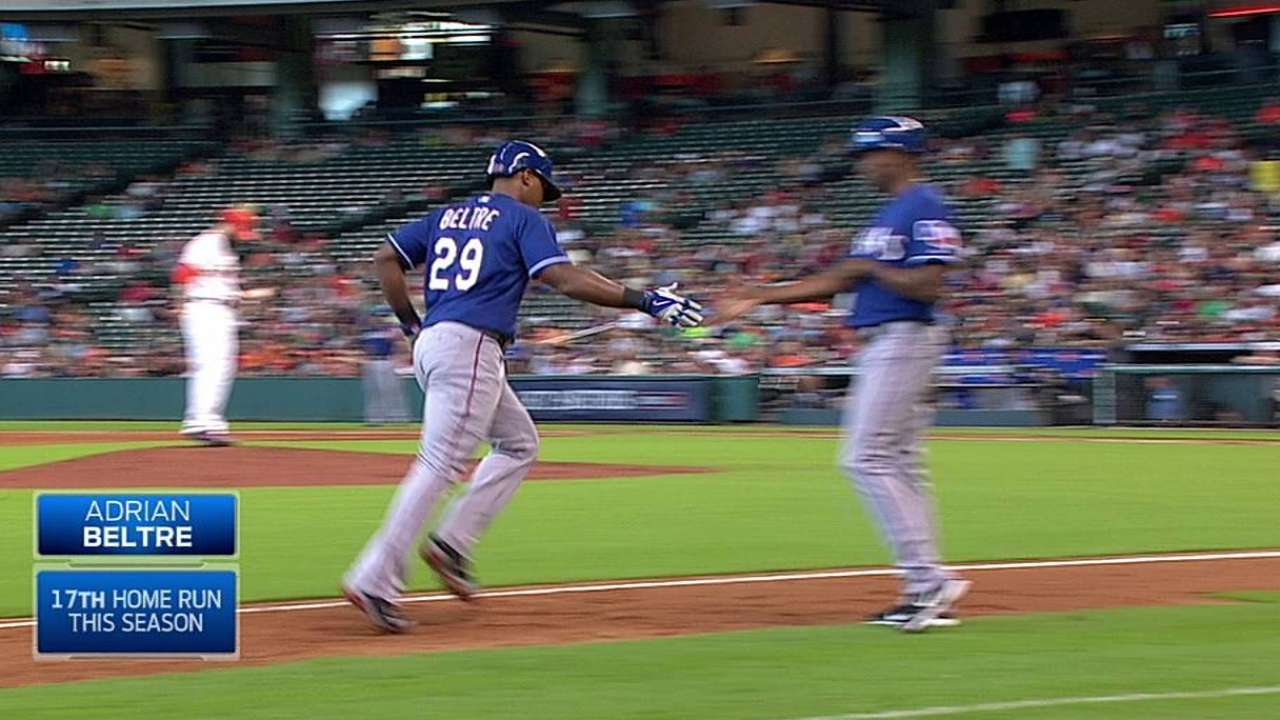Beltre, Rangers power way past Astros
