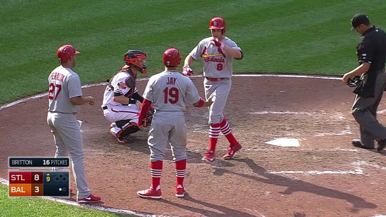 Cards' offense turns tables on O's in finale win