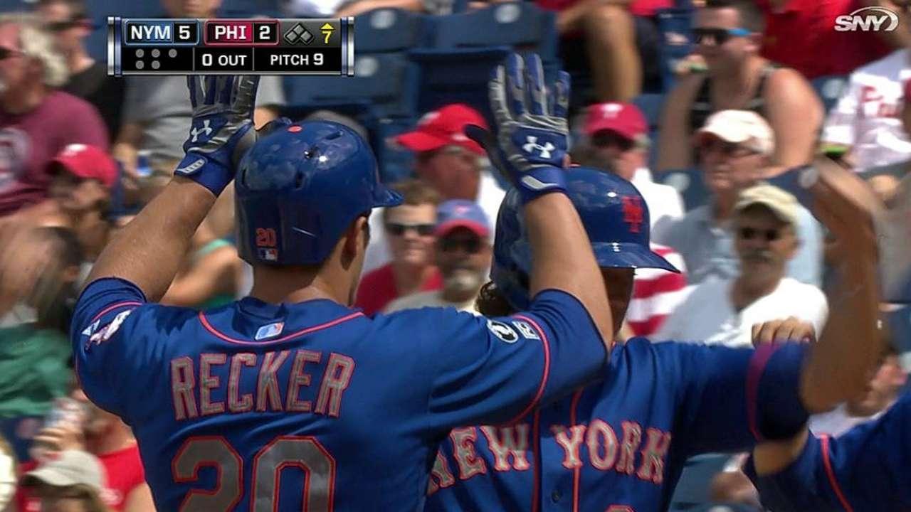 Recker y Niese guían victoria de Mets sobre Filis