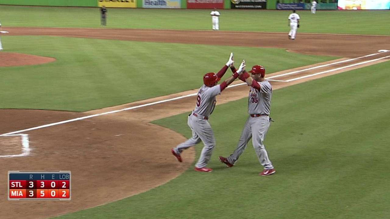 Miller allows five runs as Cardinals drop opener