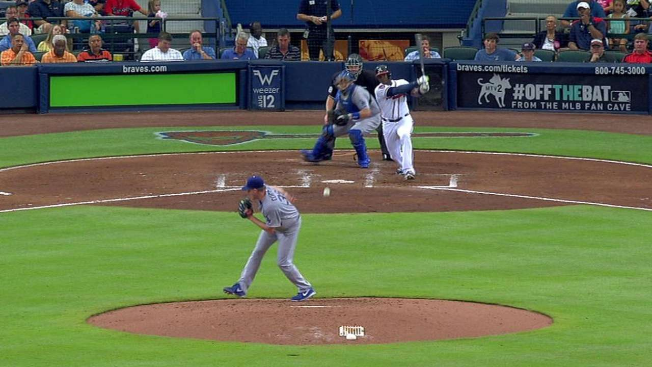 Offense held in check as Braves fall to Dodgers