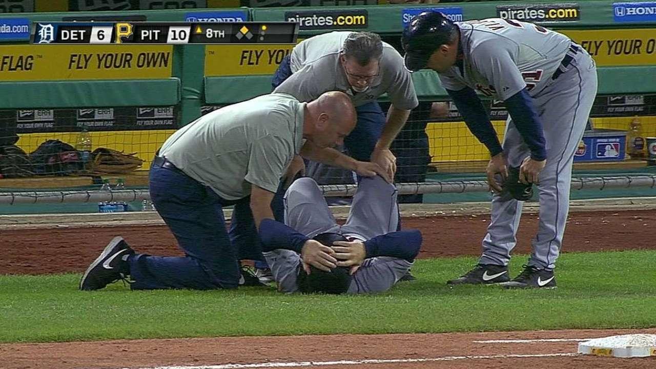 Bat boy injured in fall at Pirates-Tigers game