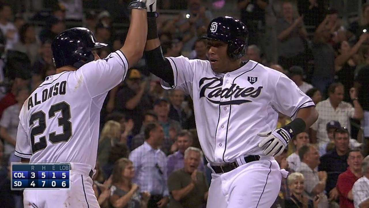 Fresh faces help Padres topple Rockies