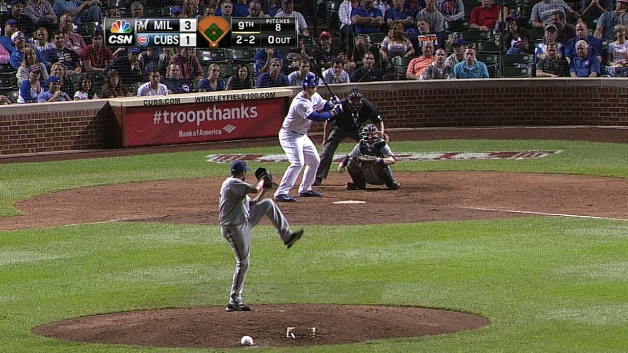 Rizzo's smarts show in 13-pitch at-bat