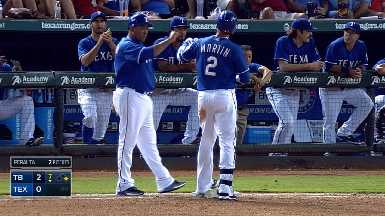 Martin rebounds with first four-hit game
