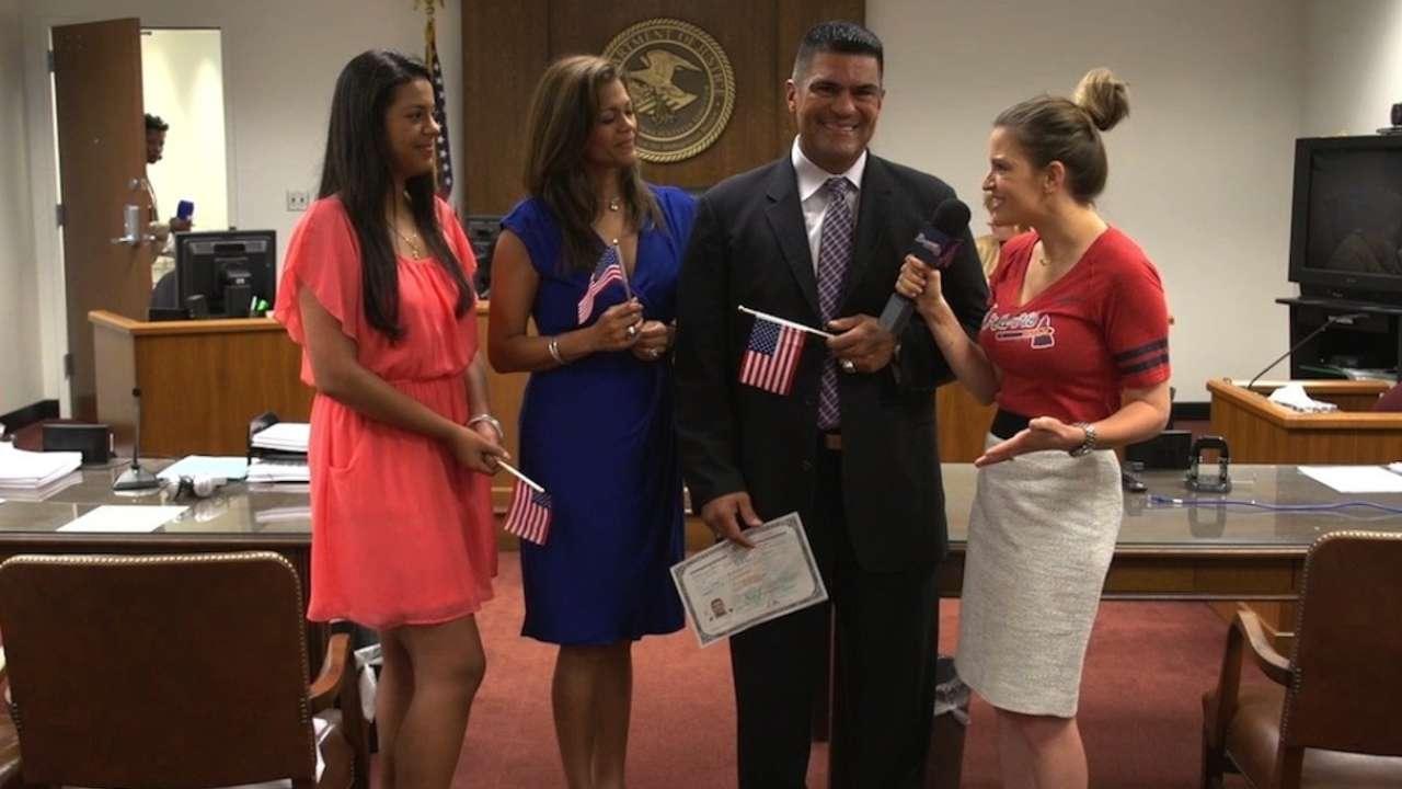 Braves coach Perez becomes US citizen