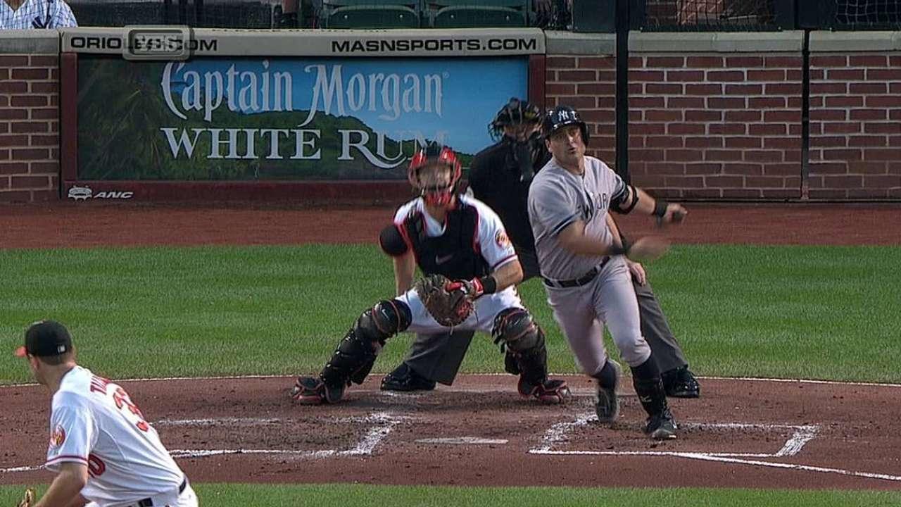 Orioles hunden a Yankees con jonrones en la 8va