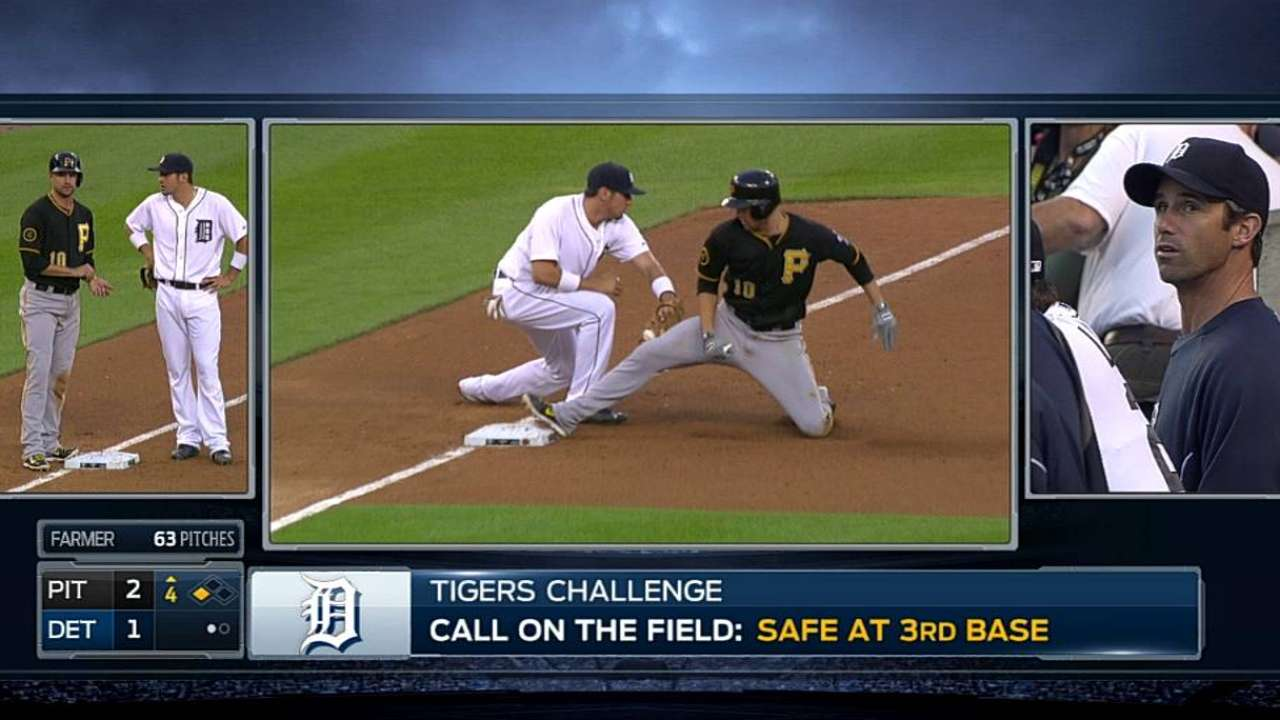 Call at third stands after review in Bucs-Tigers game