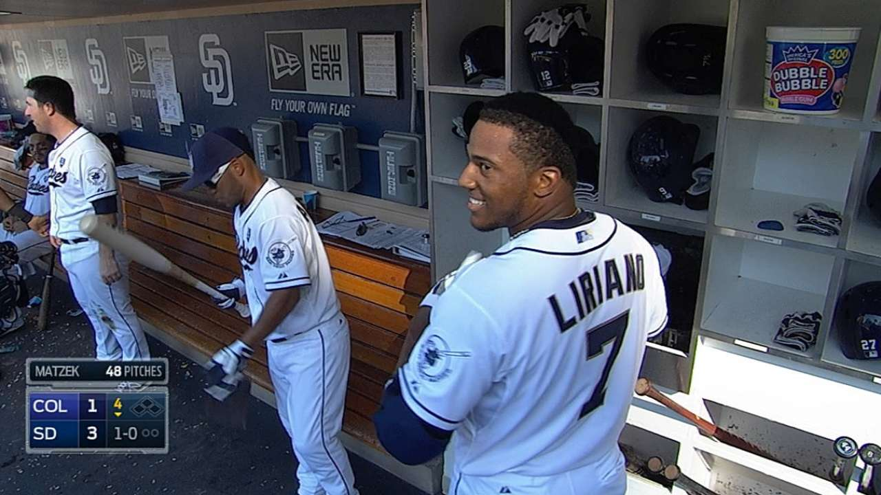 Young Padres finding stride, sweep Rockies