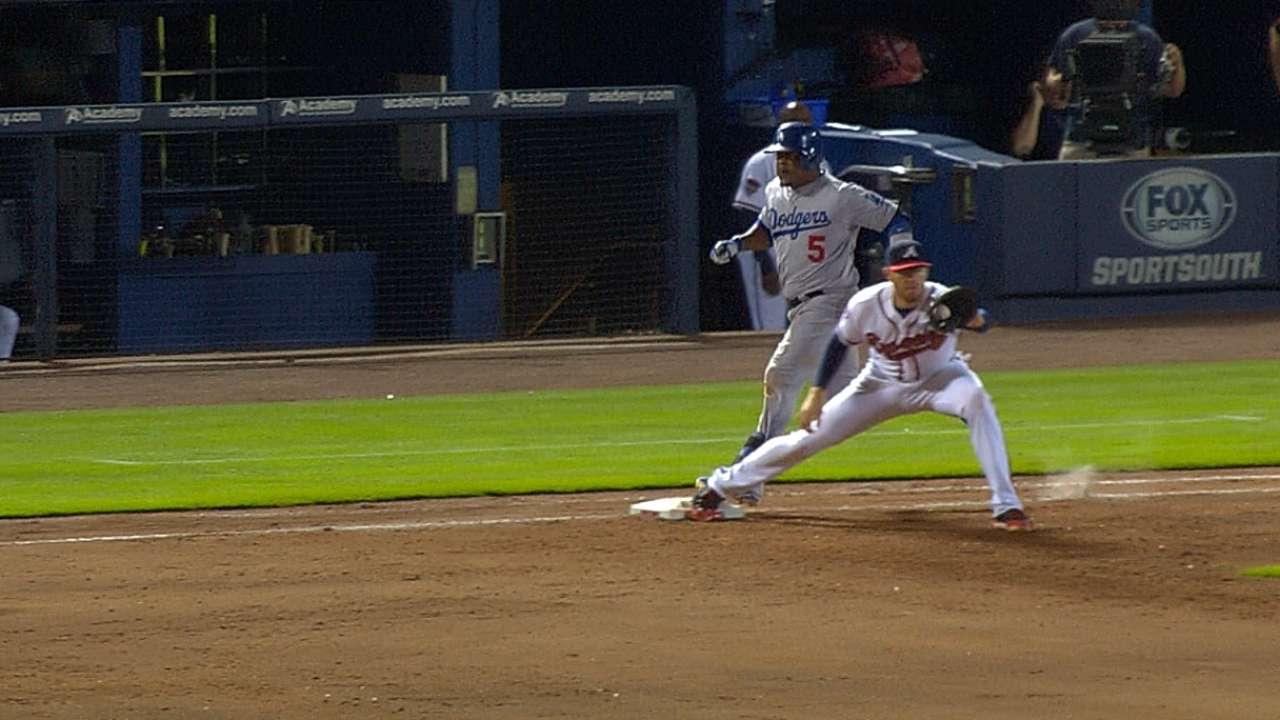 Replay erases baserunner at first base