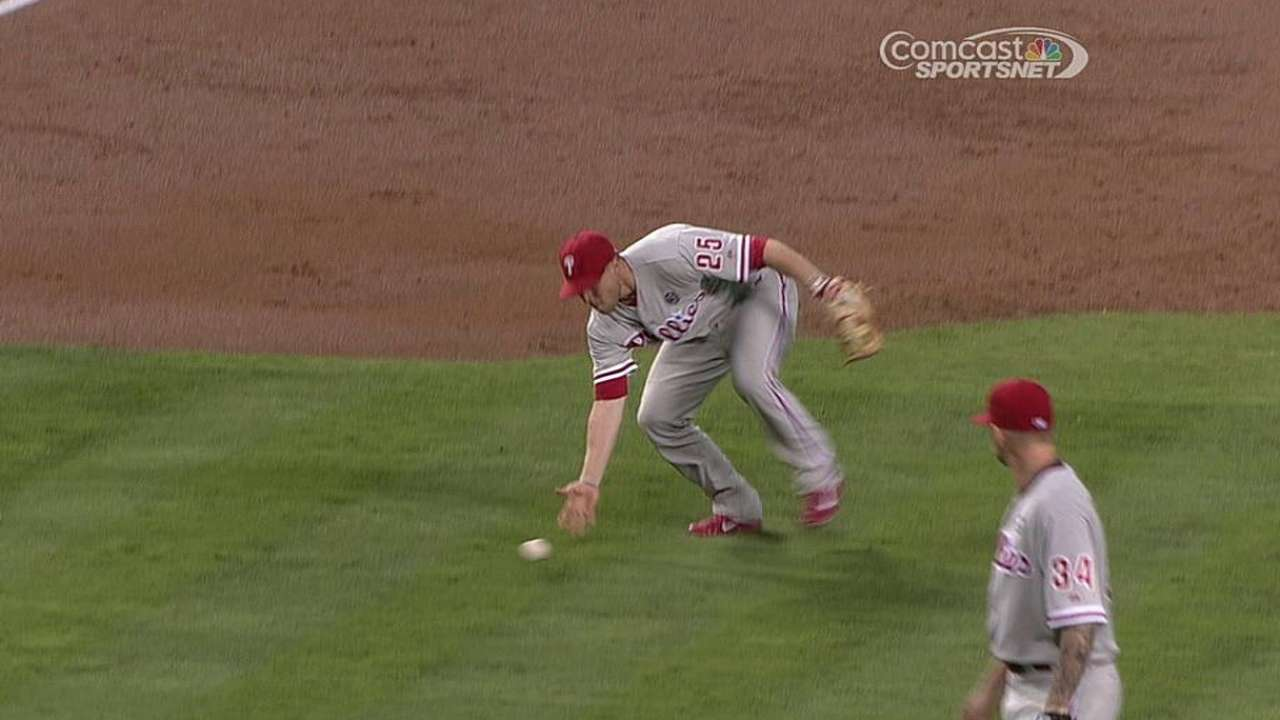 Asche won't try outfield if Franco is called up
