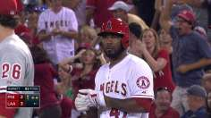 Halos rally past Phillies for Weaver's 13th win