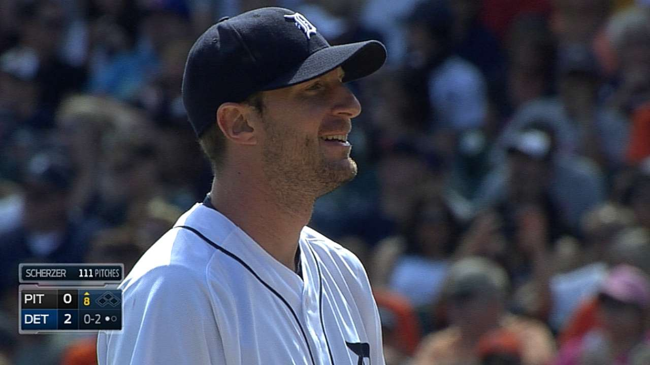 Scherzer dominates with season-high 14 strikeouts