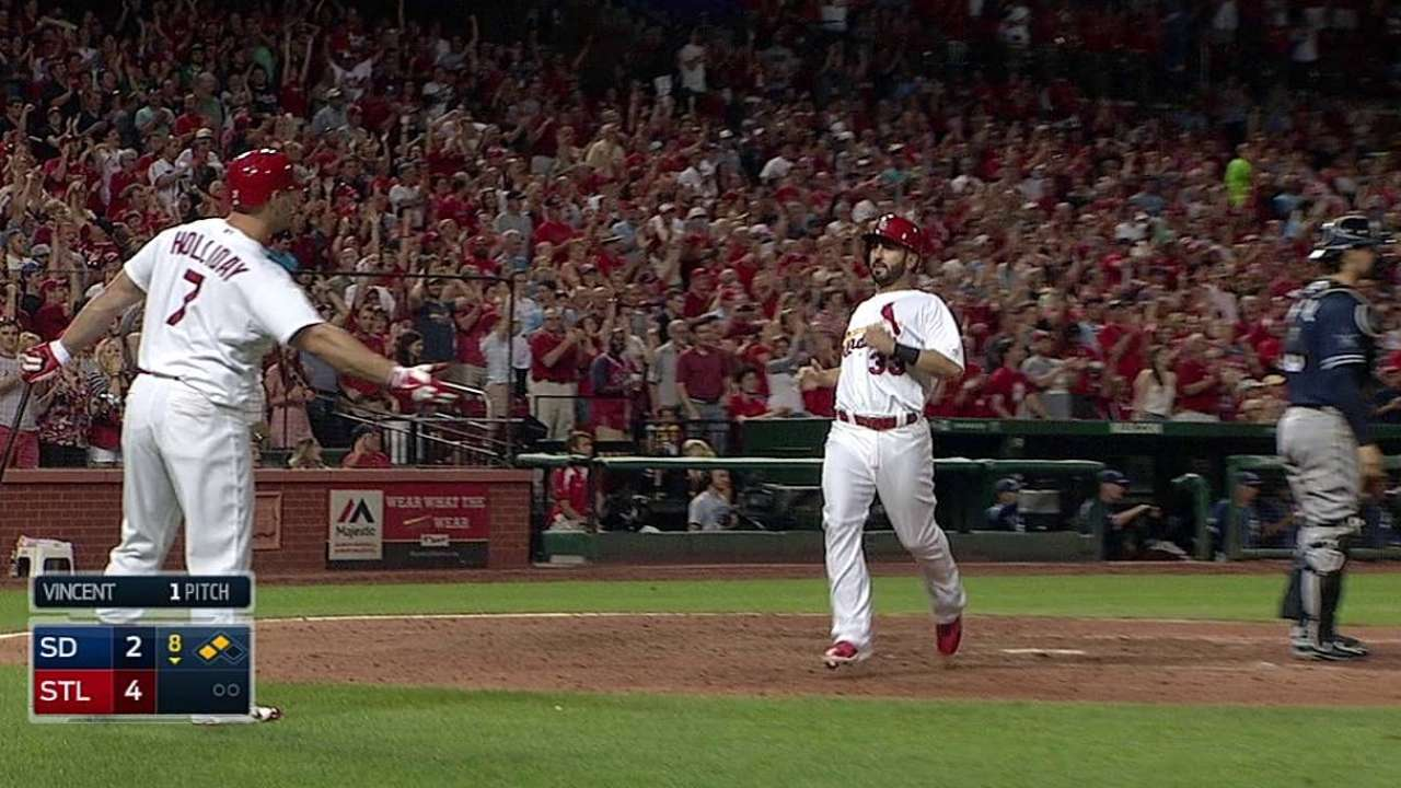 Cards get the better of Padres after wild finish