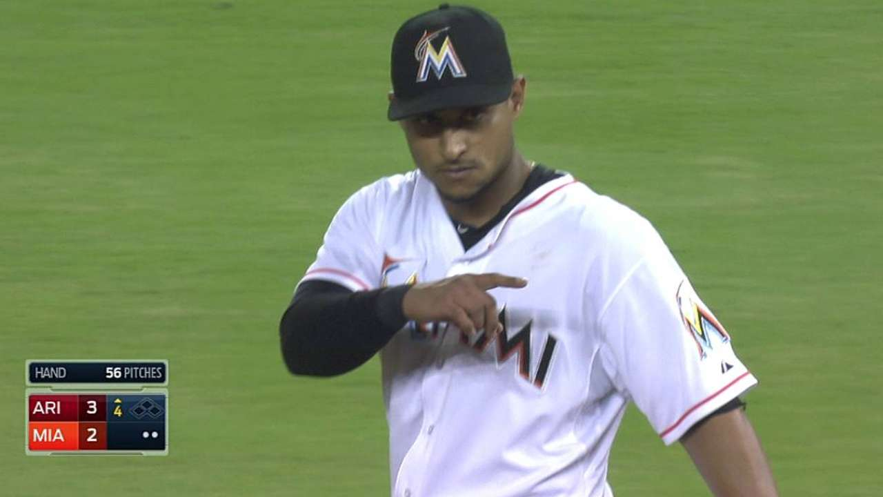 Double plays derail Marlins' comeback attempt