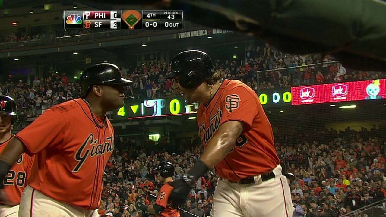Morse's three-run homer