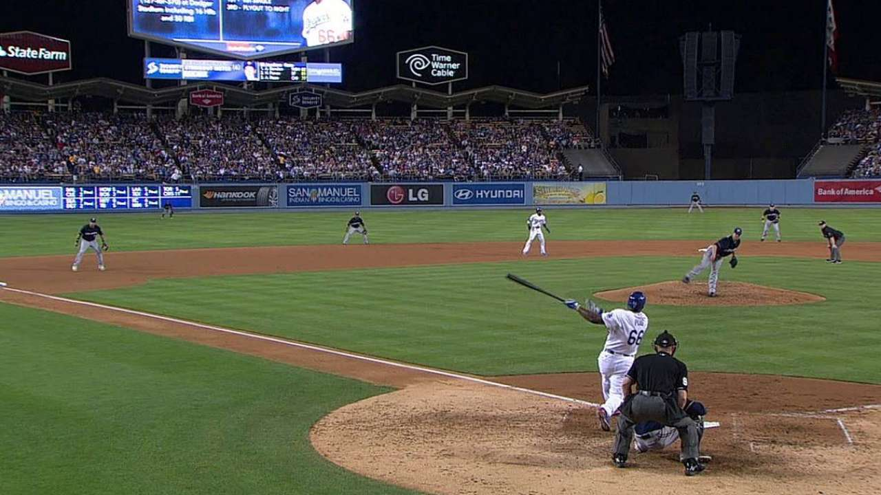 Slumping Puig moved to sixth in batting order