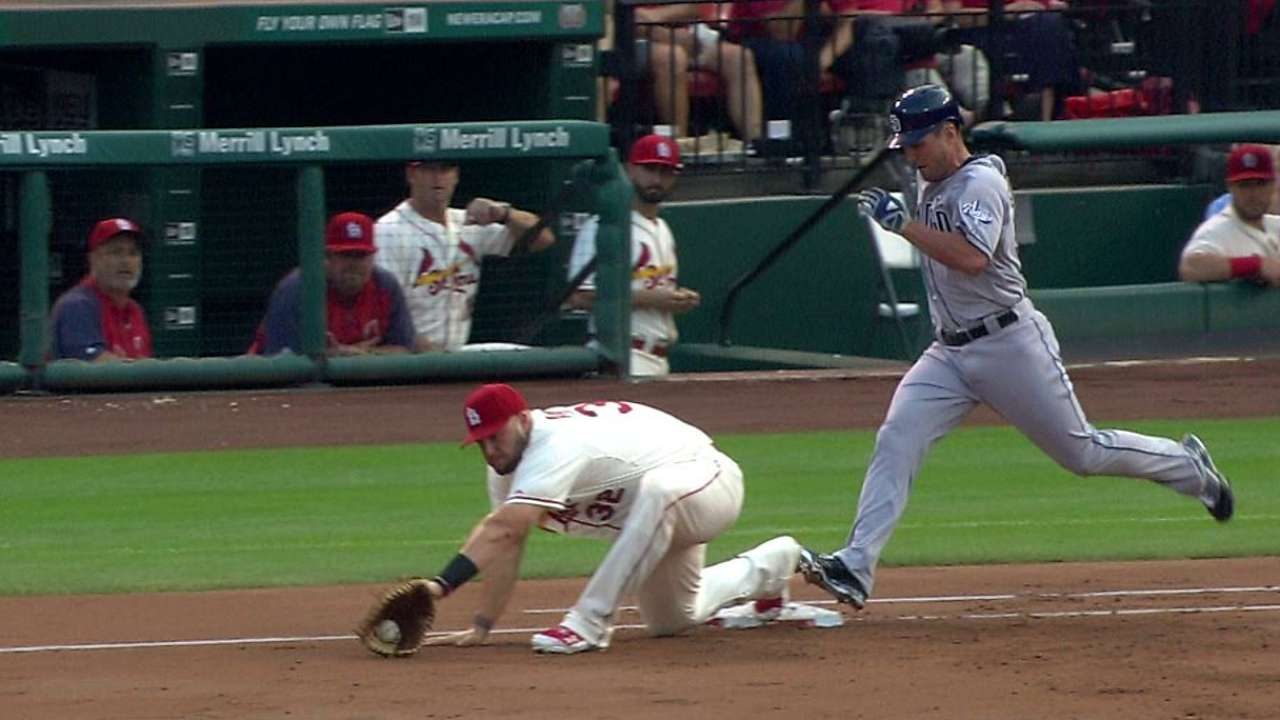 Matheny wins challenge to erase Padres' hit