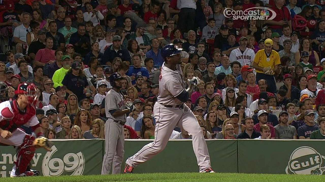 Peacock can't stop Papi as Astros let one slip away