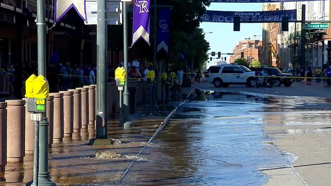 Broken water main near Coors postpones game