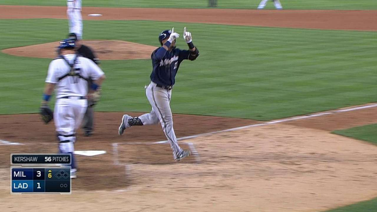 Eager to pounce, Gomez sparks Brewers