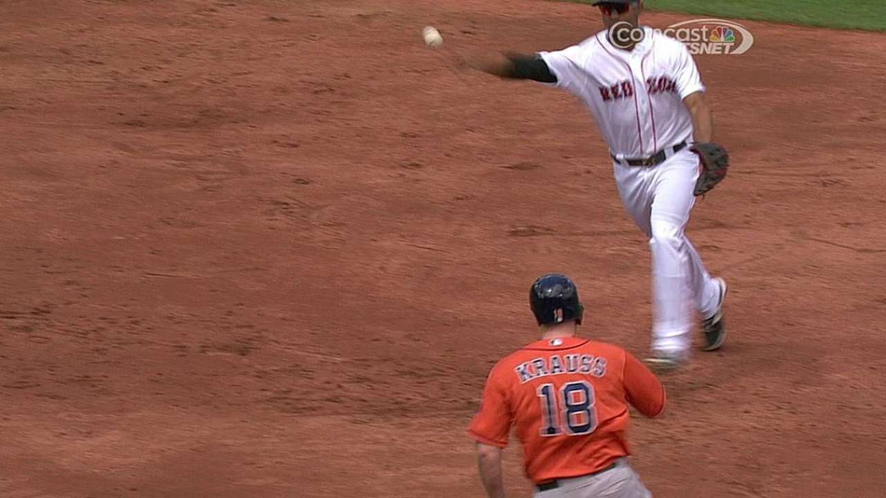 On overturned call, Astros benefit at Red Sox's expense