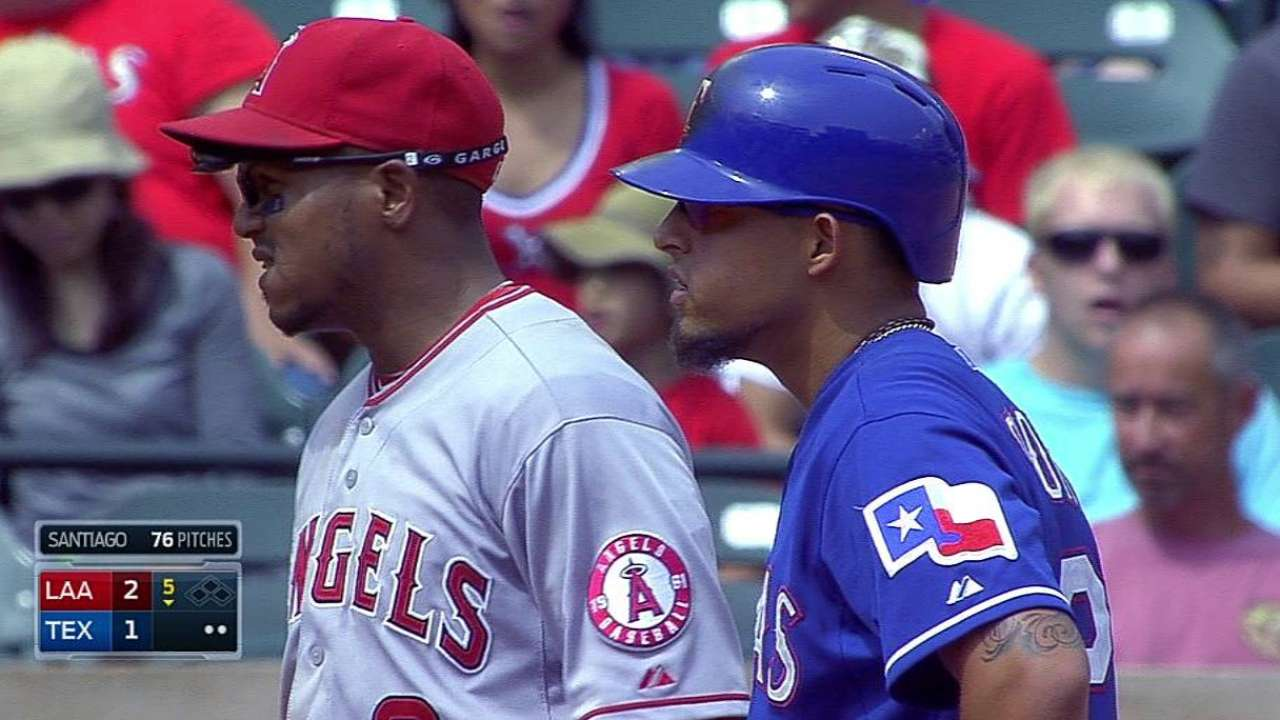 Odor out at second on challenge