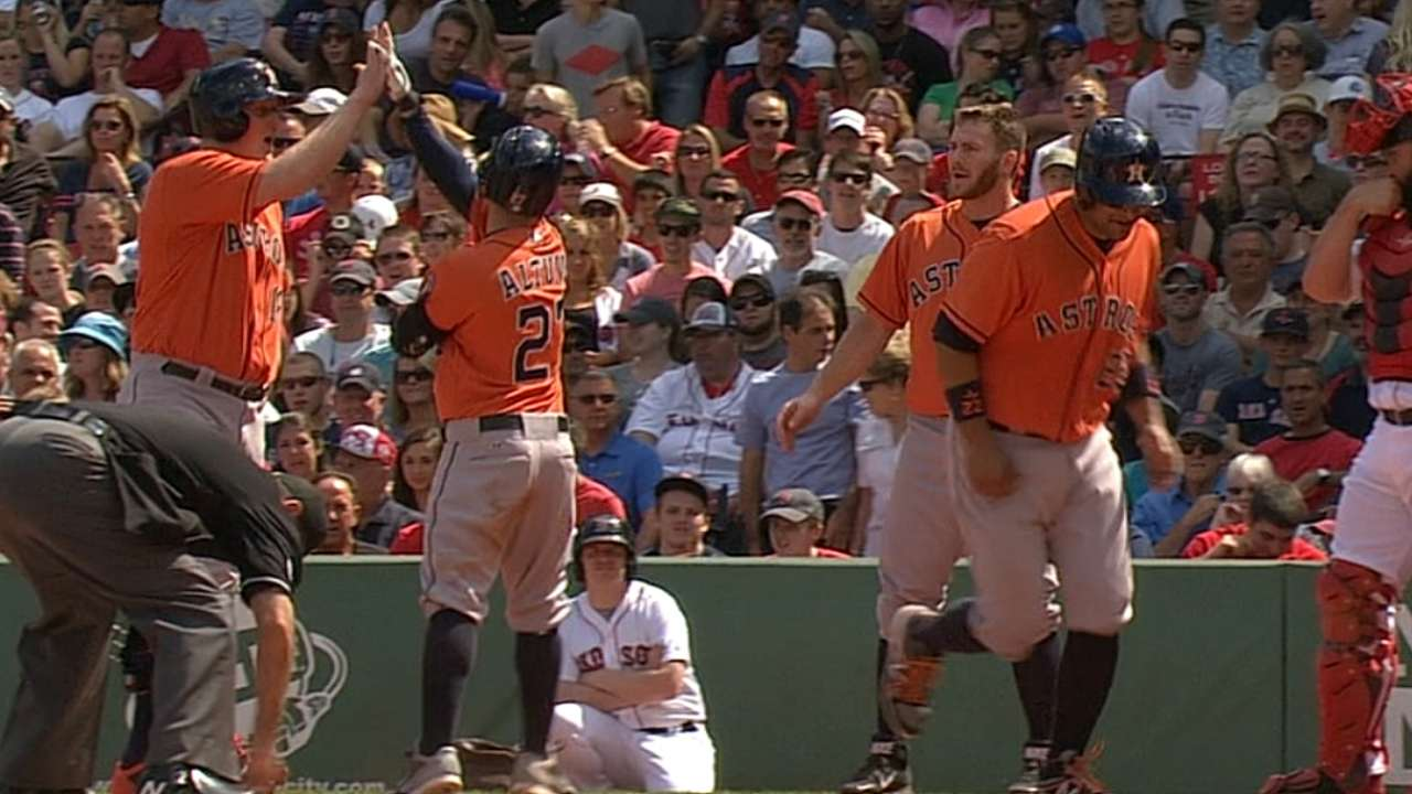 Astros capitalize on review, eclipse '13 win total