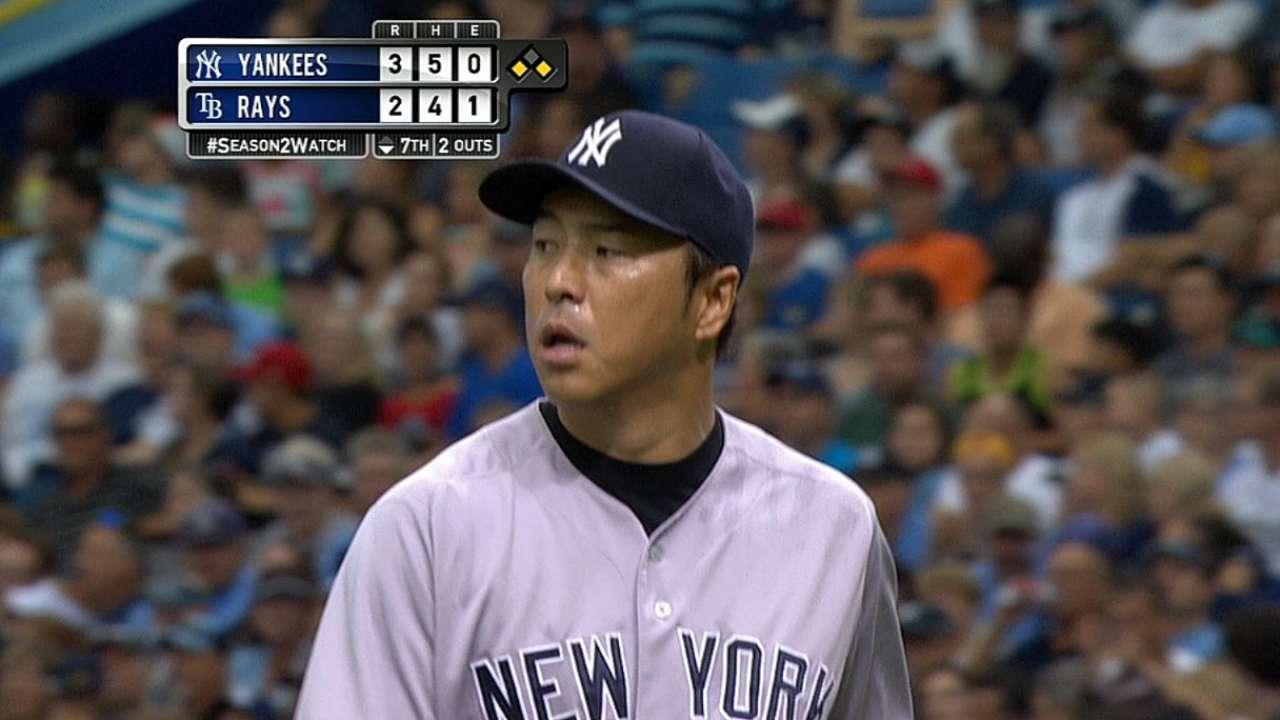 Ofensiva de Rays no pudo con pitcheo de Yankees