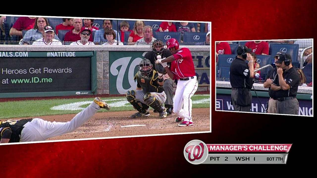 Nationals win challenge: Taylor was HBP