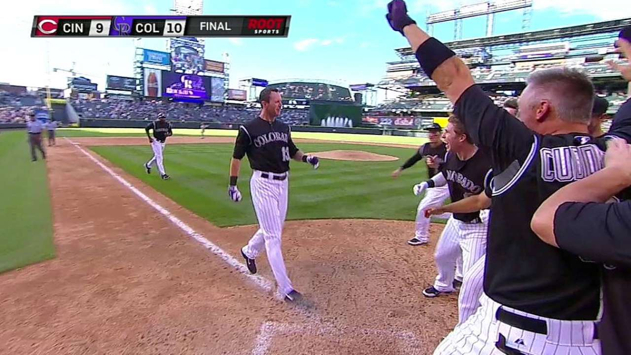 Stubbs delivers heroics for Rockies with walk-off HR