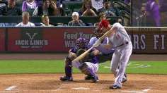 Cuddyer's cycle highlights Rockies' nightcap rally
