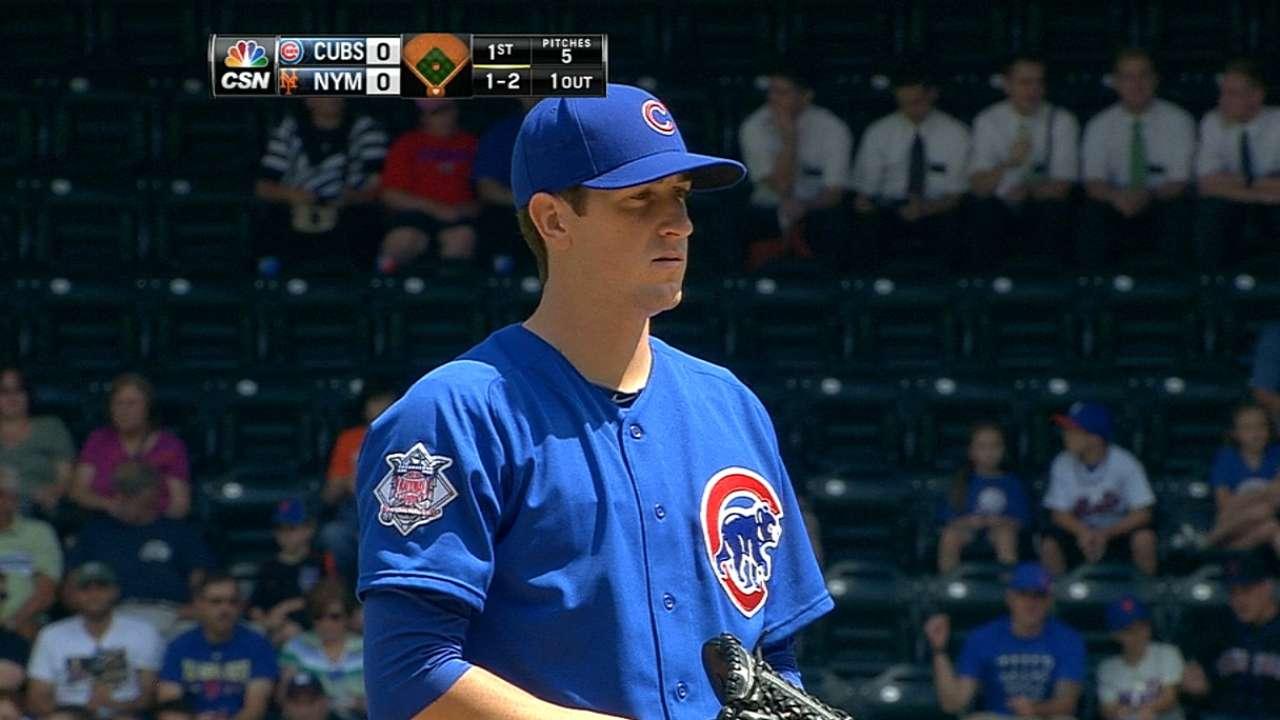 Rizzo, Baez crush Mets behind stellar Hendricks