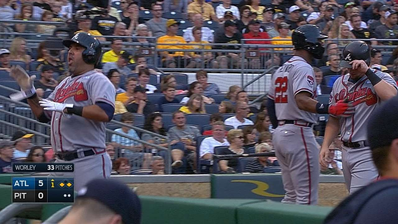 Braves ride loud opening act past Pirates