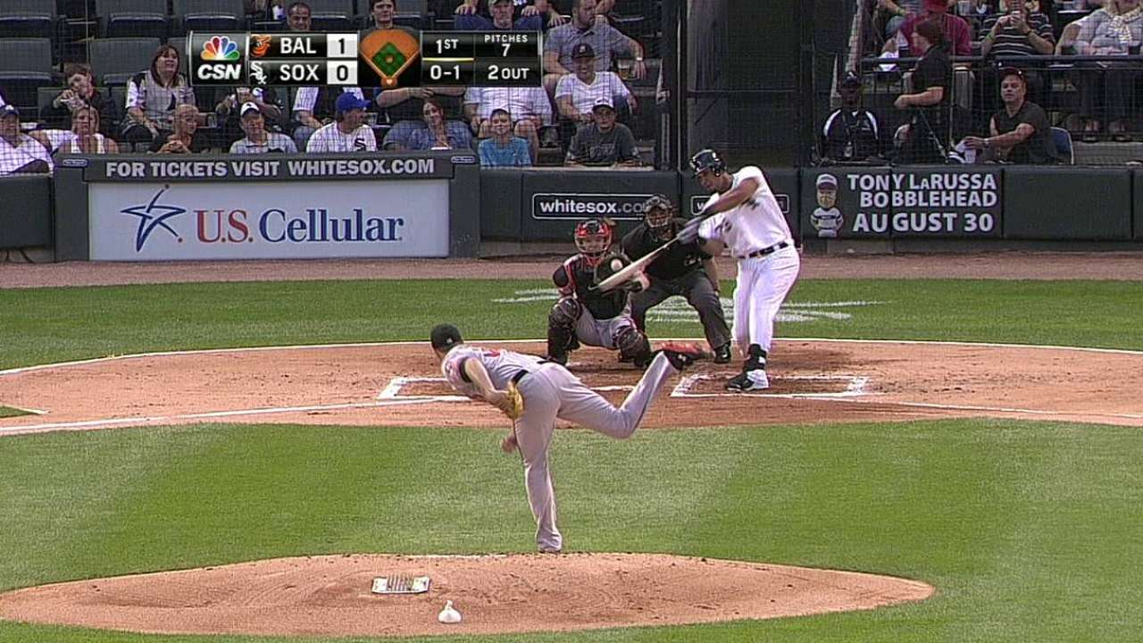 Abreu dio HR en derrota de Chicago vs. Baltimore