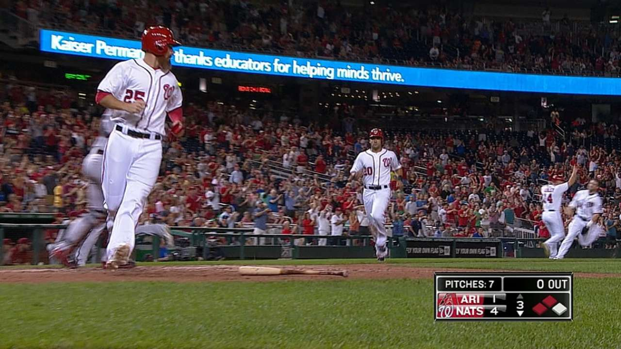 Nats' win streak to eight games with rout of D-backs