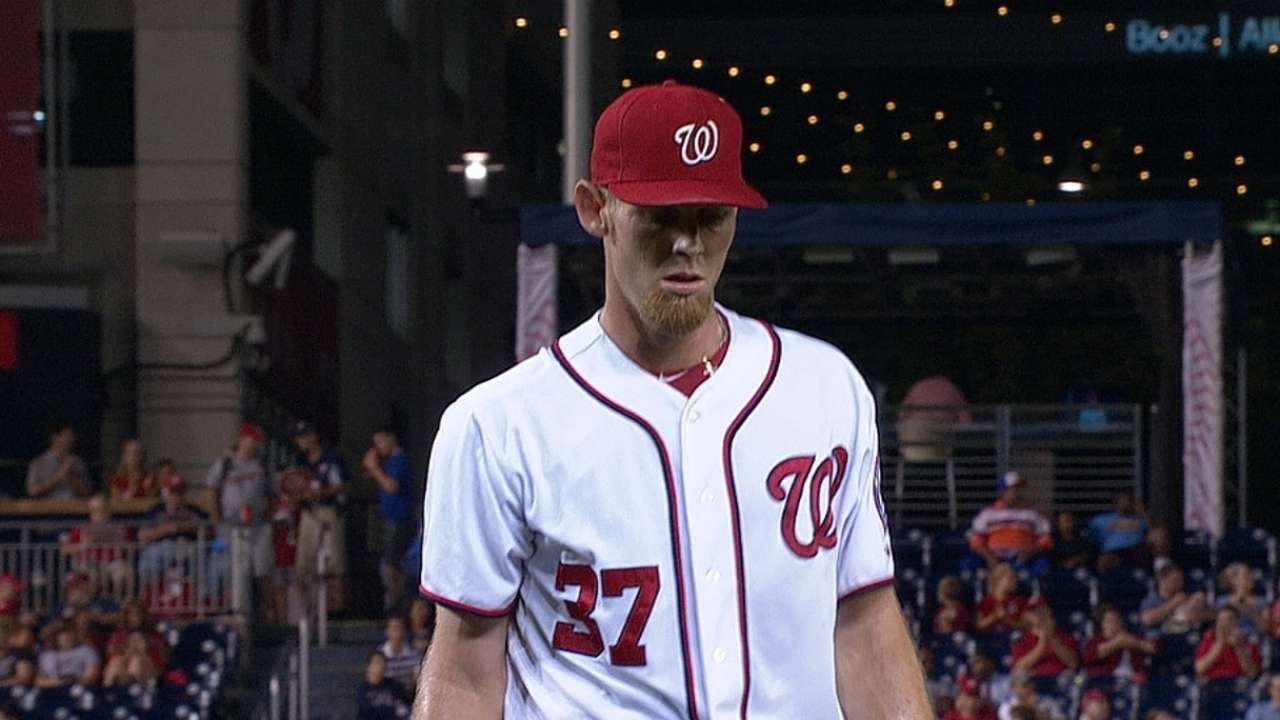 Strasburg sets personal high for single-season K's