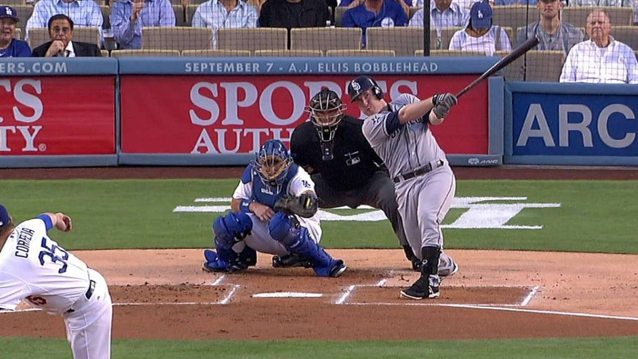 After Gyorko's loud start, Padres' rally clipped