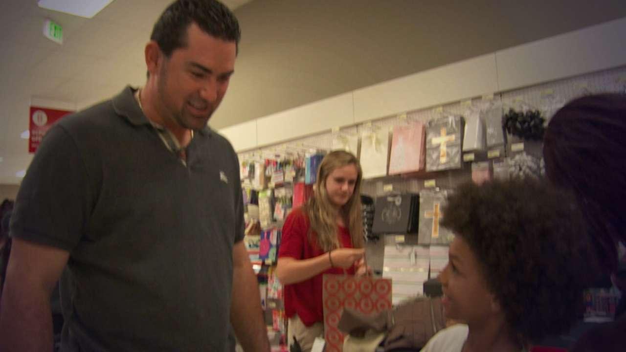 Adrian helps LA children shop for return to school