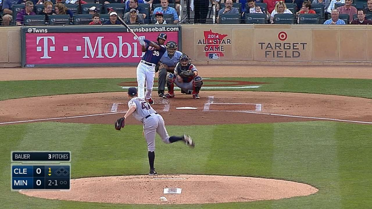 Twins' five-run first inning goes for naught