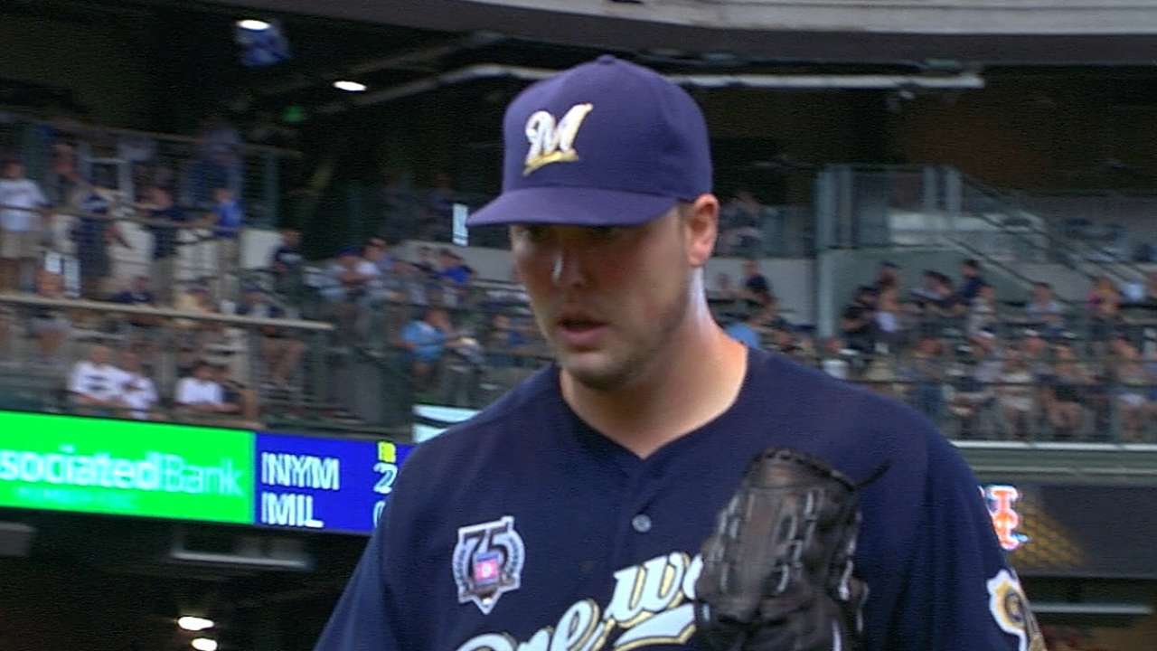 Nelson's power pitching gives Brewers key weapon