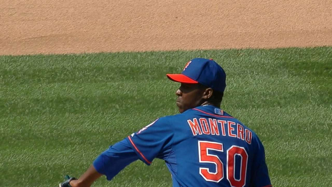 Montero optioned to make room for deGrom