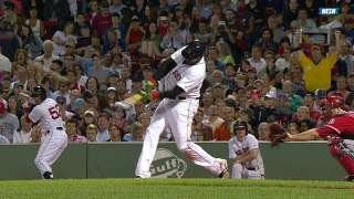 Papi collects four hits, 30th homer in loss to Angels