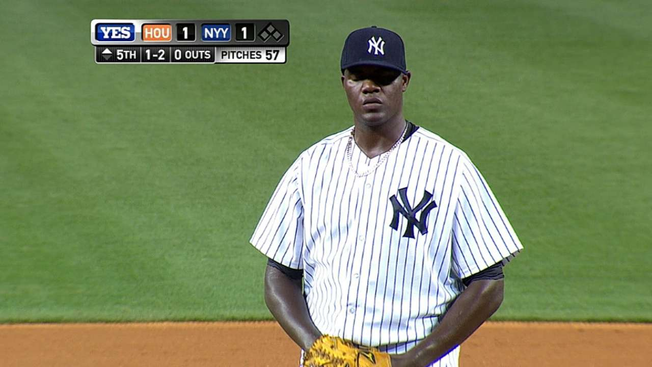 Pineda solid, but Yankees give up ground in loss