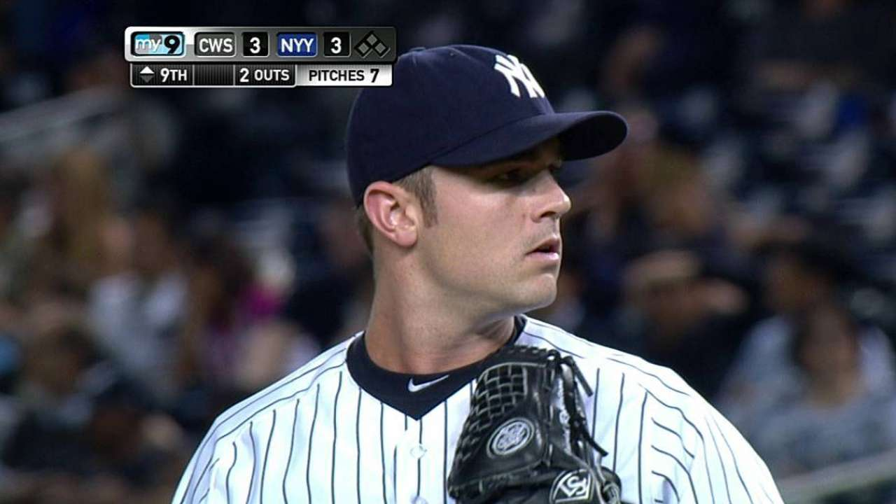 Robertson fastest to 500 K's in Yankees history