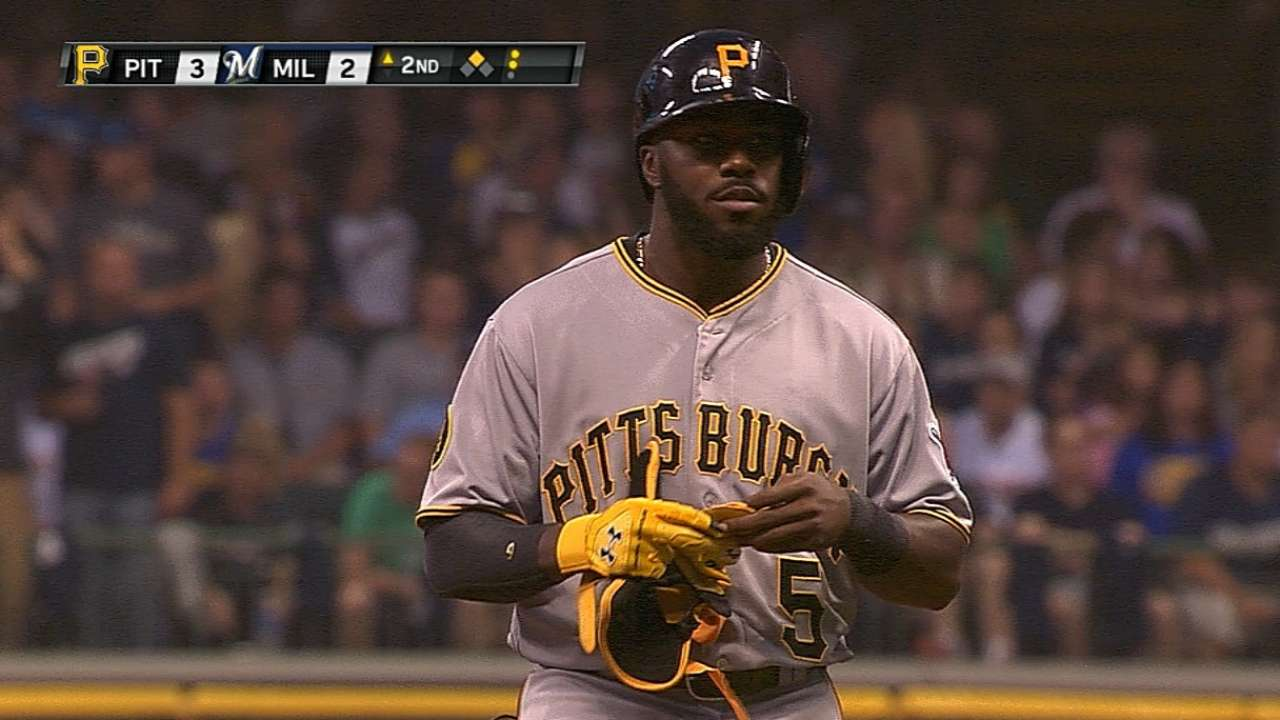 Harrison's five RBIs pull Pirates closer to Crew