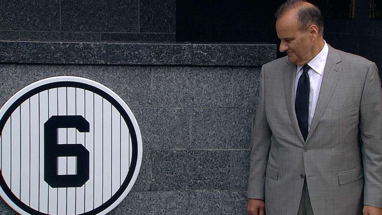 Yankees retiraron el #6 del ex capataz Joe Torre